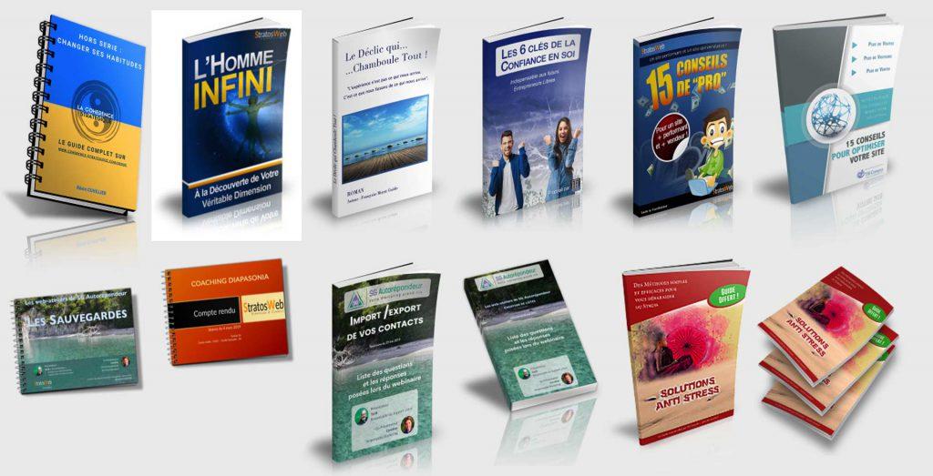 couverture ebook et livres
