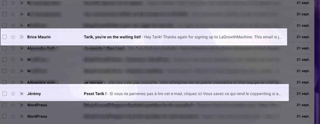 image d'une boîte de réception d'emails